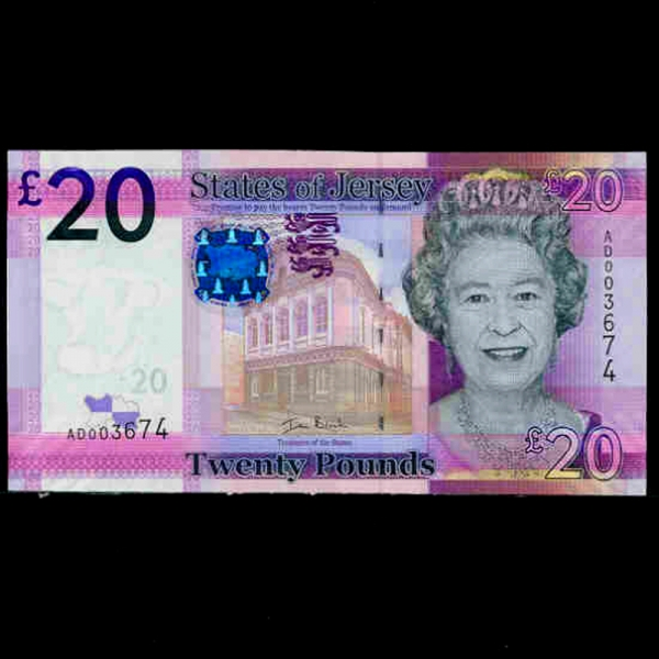 JERSEY-영국령 저지-P35-QUEEN ELIZABETH 2세.LA ROCCO TOWER-20 POUNDS-2010년
