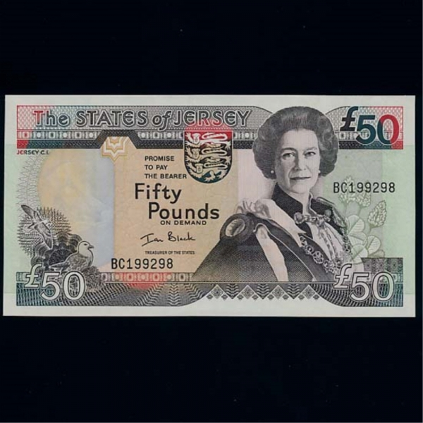 JERSEY-영국령 저지-P30-QUEEN ELIZABETH 2세.GOVERNMENT HOUSE-50 POUNDS-2000년